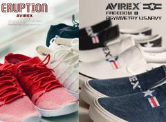AVIREX|エアソールやソックスのような感覚で履くスニーカーなど新作シューズ大特集!