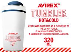 AVIREXの商品を合計1万円(税込)以上お買い上げのお客様に 先着順にて「AVIREXオリジナルタンブラー(非売品)」をプレゼント