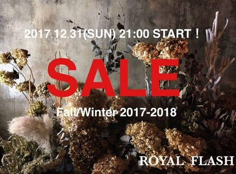【ROYAL FLASH USONLINE STORE】17FW SALE START!!
