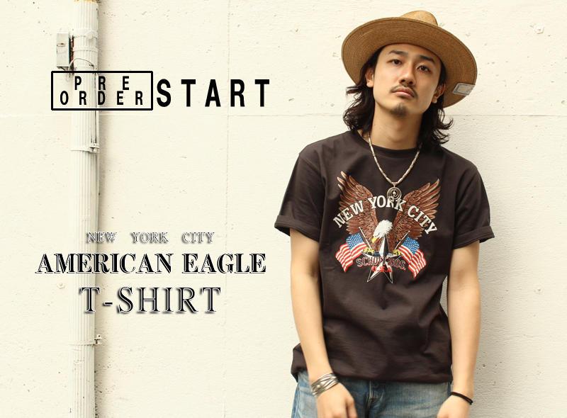 【Schott ONLINE】 PRE-ORDER AMERICAN EAGLE T-SHIRT