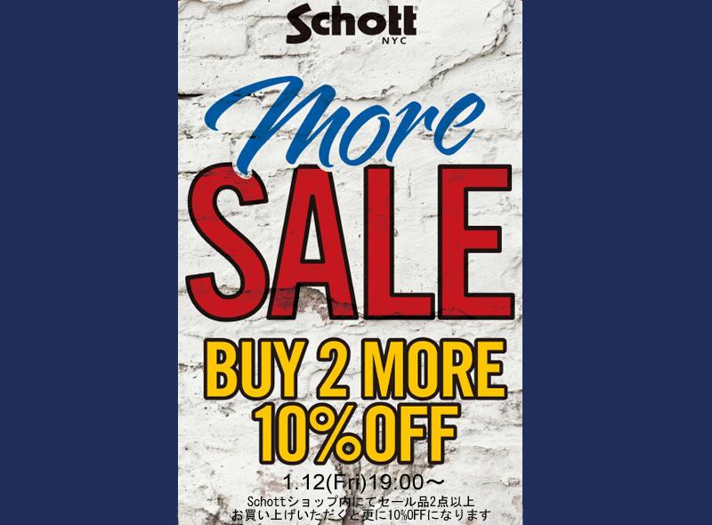 【Schott ONLINE】BUY2 MORE 10%OFF SALE START