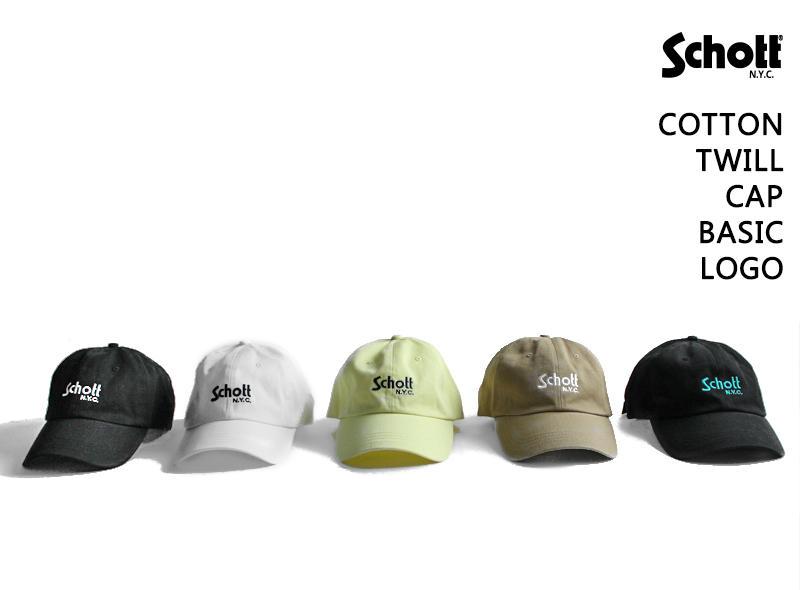 【Schott ONLINE】COTTON TWILL BASIC LOGO CAP 予約販売開始