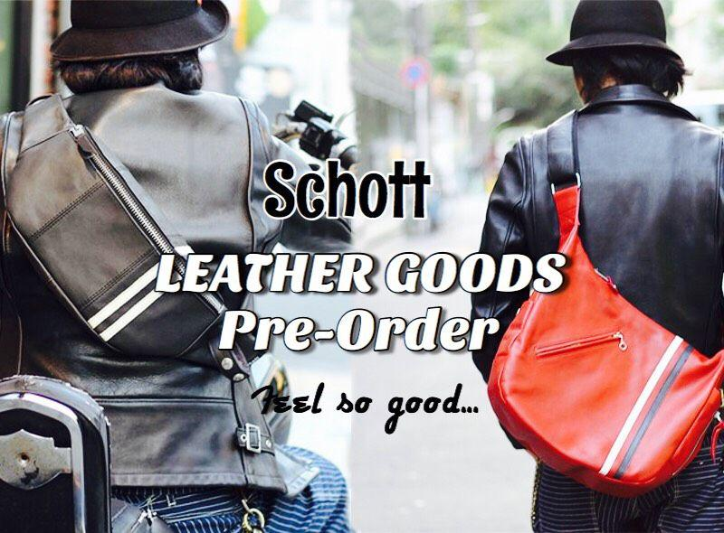 【Schott ONLINE STORE】CLASSIC RACER BODY BAG/SHOULDER BAG予約開始!