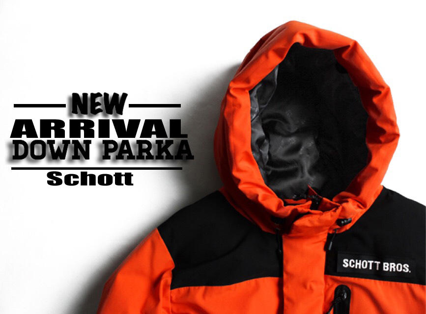 【Schott 】SNORKEL DOWN PARKA発売開始