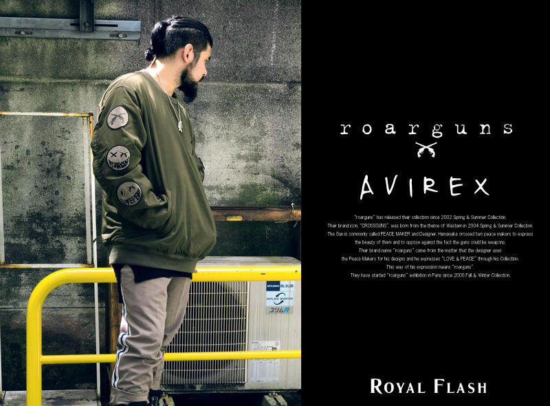 AVIREX×roar×ROYAL FLASH | <BR>ロアーとのコラボアイテム登場!TYPE MA-1 CREW NECK WAPPEN CUSTOM
