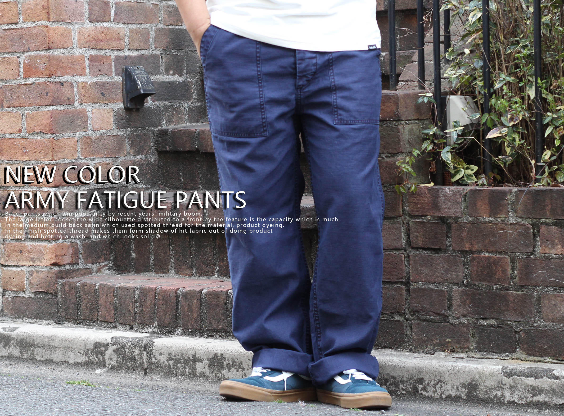 【Schott】NEW COLOR ARMY FATIGUE PANTS