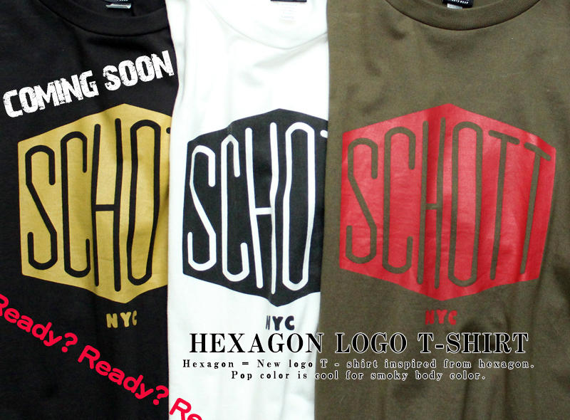 【Schott ONLINE】COMING SOON HEXAGON LOGO T-SHIRT